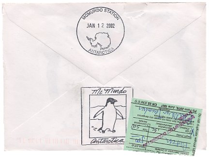 an eBay auction payment postmarked Antarctica