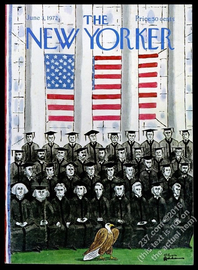 New Yorker magazine framing cover June 3 1972 Charles Addams all US ...