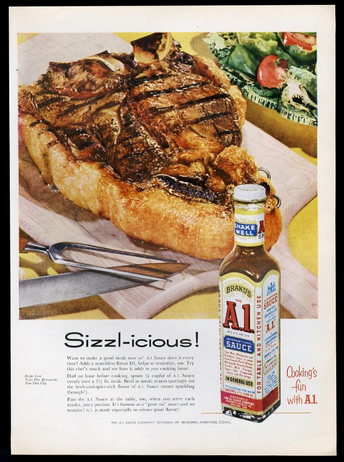1956 A1 A 1 Stejk Sous Dlya Butylok I Edy Foto Vintazhnaya Pechatnaya Reklama Ebay