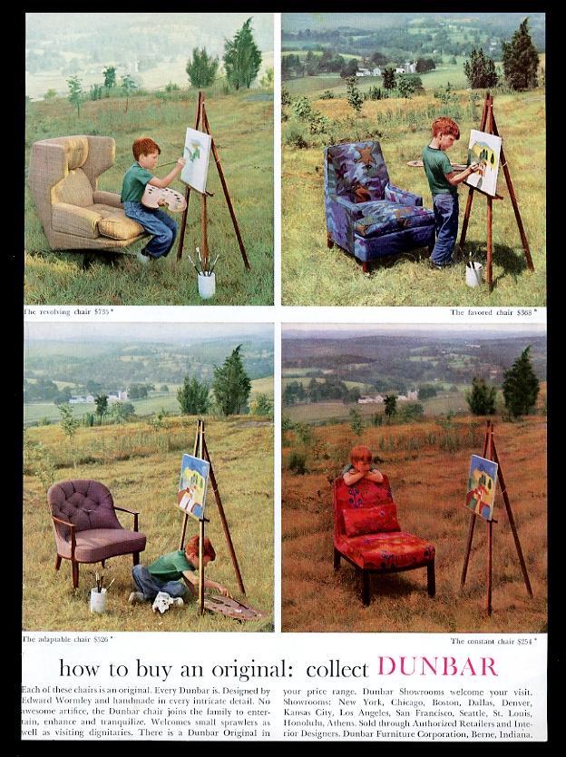 Dunbar Furniture Edward Wormley 4 Modern Chair Vintage Print Advertisement