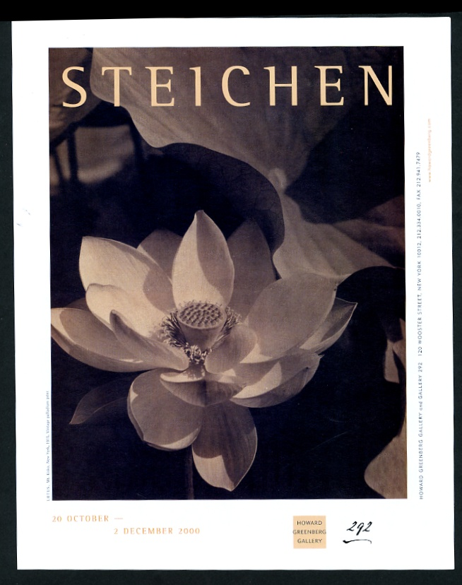 2000 Edward Steichen 1915 Foto De Flor De Loto Nueva York Art