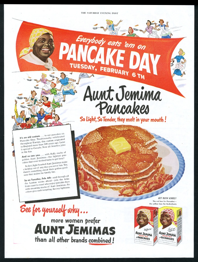 1951 aunt jemima pancake mix pancake day theme vintage print ad ebay aunt jemima pancake mix pancake day theme vintage print advertisement ccuart Choice Image