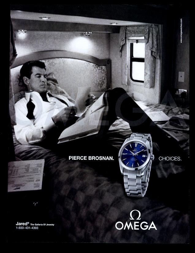 2004 Reloj Omega Seamaster Pierce Brosnan FOTO ANUNCIO IMPRESO DE