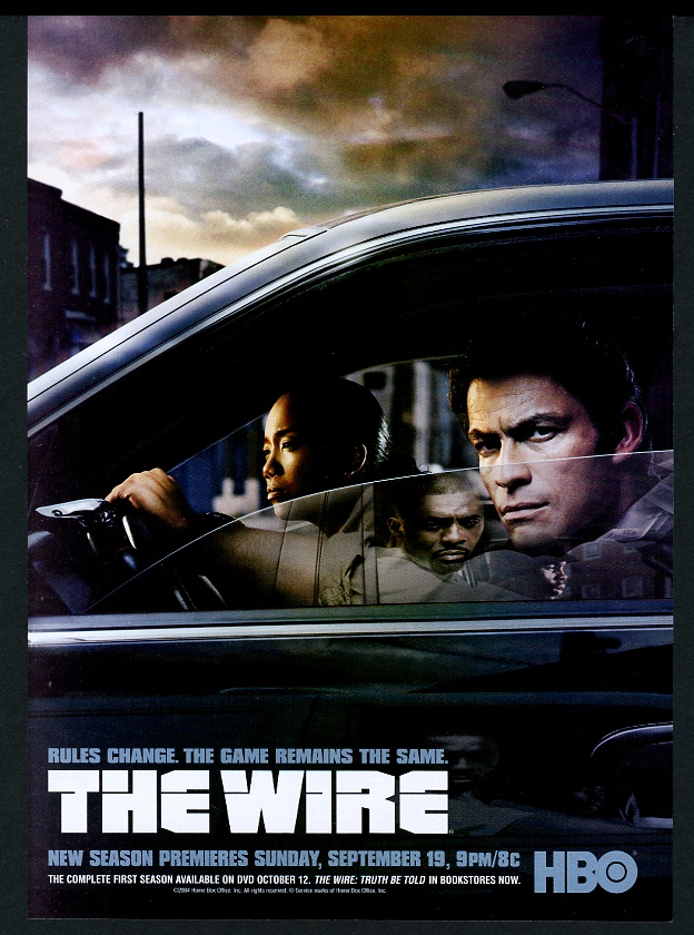 Details about 2004 The Wire HBO TV show vintage print ad