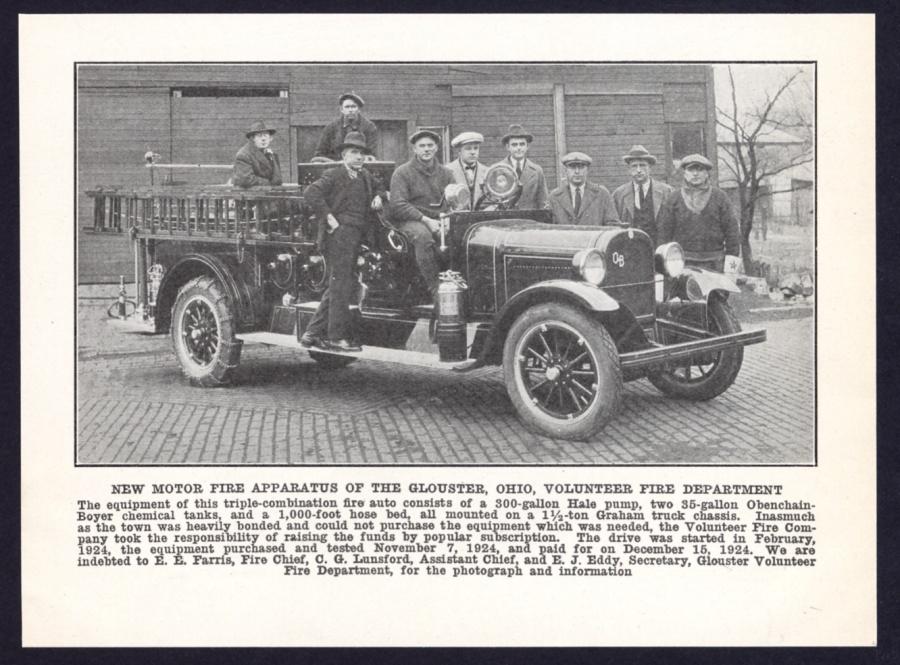 1925 Obenchain Boyer Fire Engine Truck Glouster Ohio Vfd