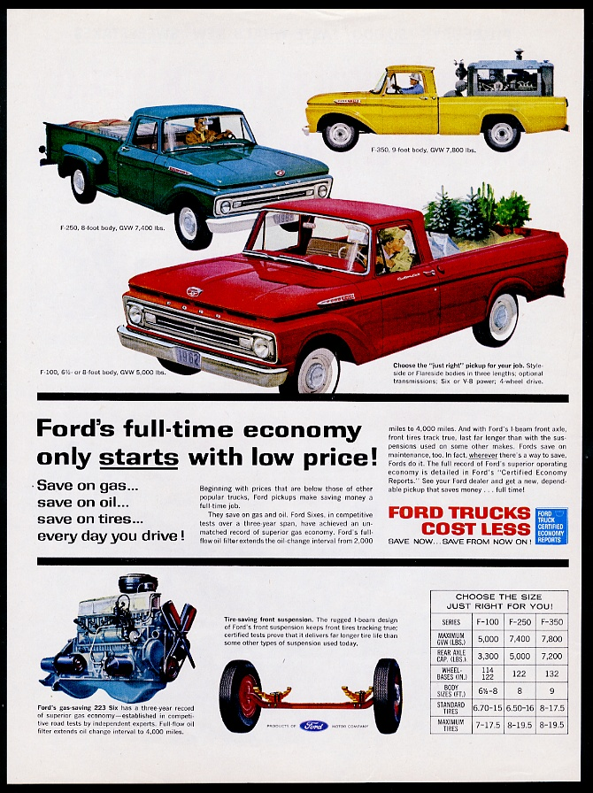 Ford F  F  Pickup Truck Vintage Print Advertisement