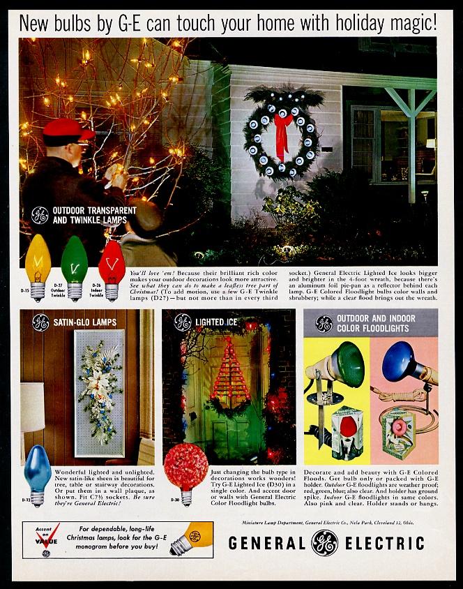 Ge Christmas Lights.Details About 1965 General Electric Xmas Light Sets Bulbs D15 D27 D26 D23 D30 Vintage Print Ad