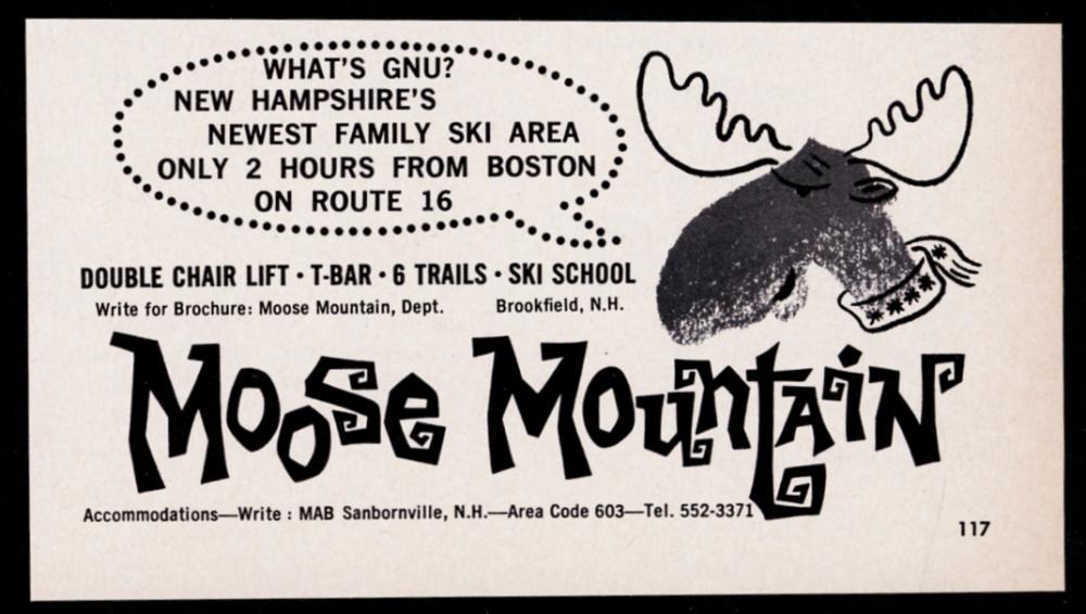 1961 Moose Mountain ski area New Hampshire vintage print ad eBay