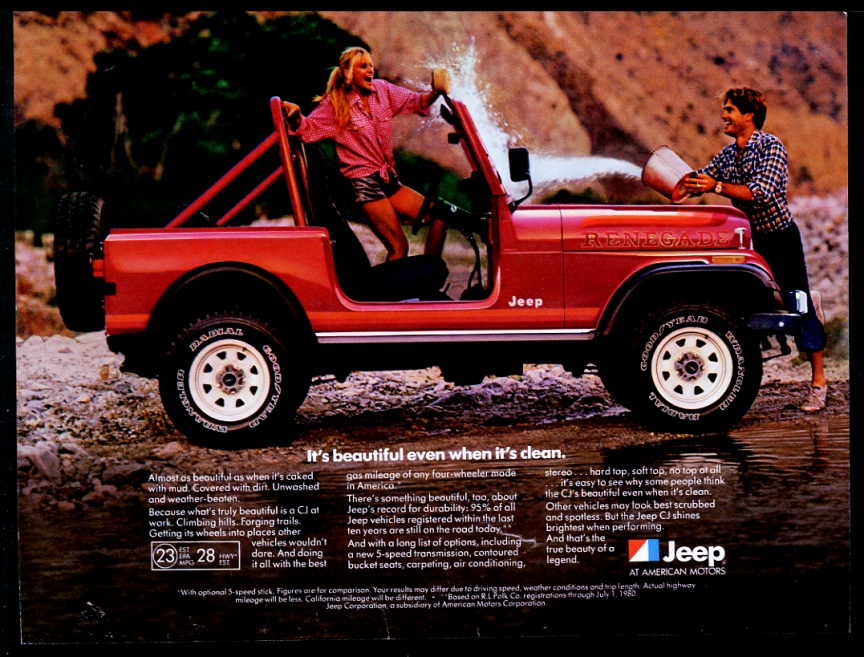 Red Jeep Renegade >> Details About 1982 Jeep Renegade Cj5 Red Suv Photo Vintage Print Ad