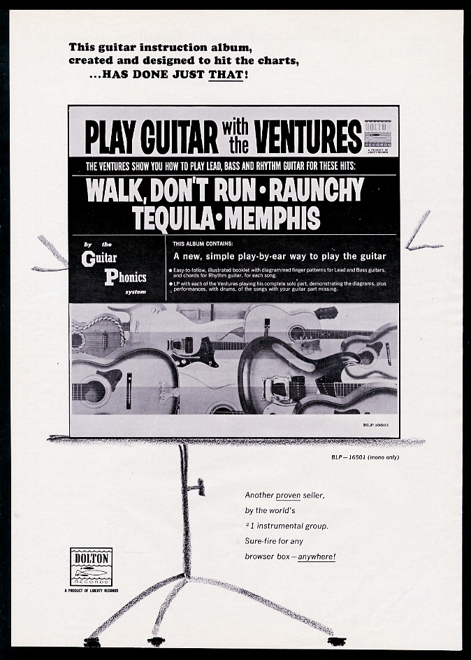1965 The Ventures Play Guitar With The Ventures Record Release Trade