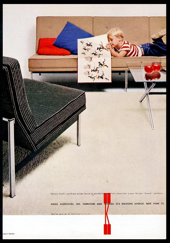 Florence Knoll Modern Chair Sofa Knoll Associates Vintage Print  Advertisement