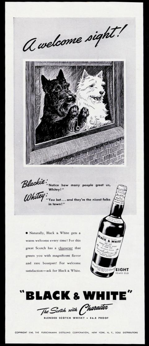 1941 Tricolor Westie Perro En Ventana Artística Black White Scotch Whisky Print Ad Ebay