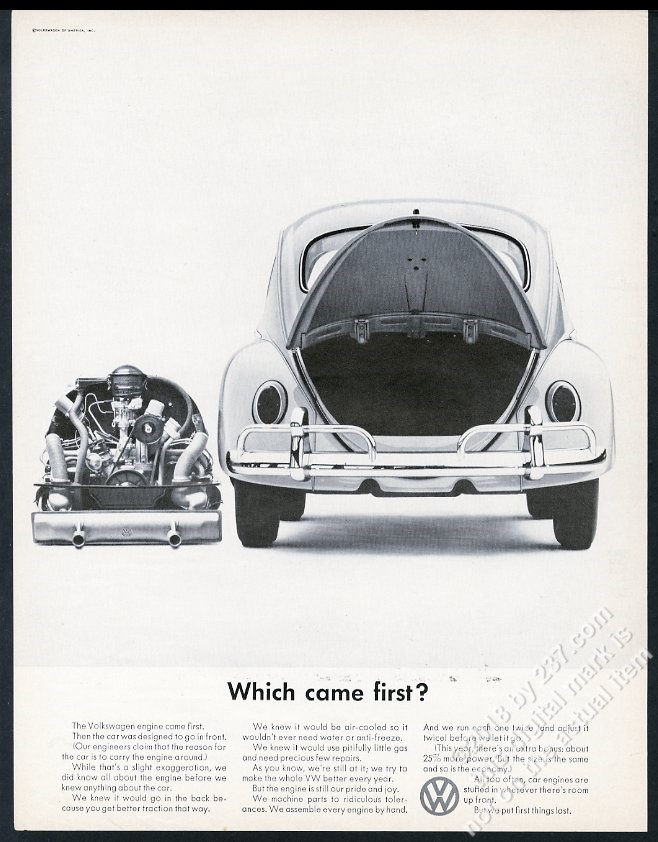 1966 VW Beetle classic car and engine photo Which Came First ...